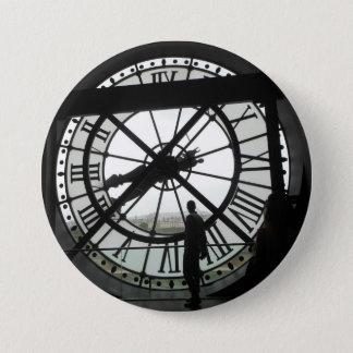 d'Orsay Musée tar tid på emblem Mellanstor Knapp Rund 7.6 Cm
