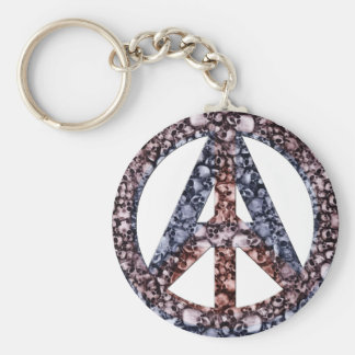 Döskallar, fred & anarki rund nyckelring