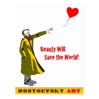 """Dostoevsky konst""""Banksy"""" vykort"""