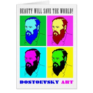 Dostoevsky konst noterar kortet OBS kort