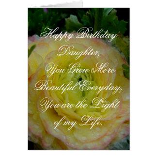 Dotterfödelsedagkort med härlig känsla hälsningskort