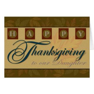 Dotters thanksgivingkort med höst löv hälsningskort
