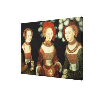 Döttrar av hertigen Heinrich av Frommen Canvastryck