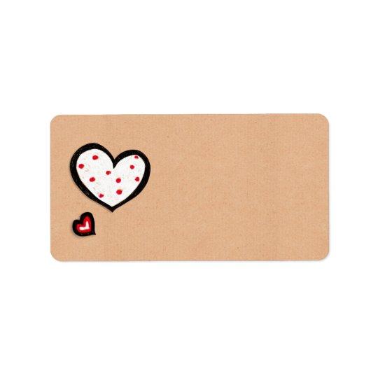 Dotty etikett för hjärtakraft adress adressetikett