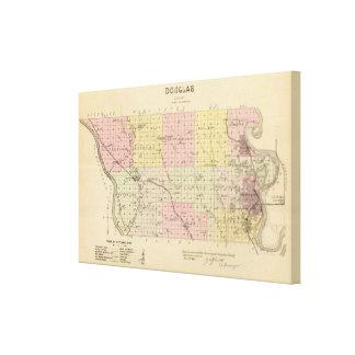 Douglas County Nebraska Canvastryck