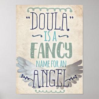 Doula är en ängel poster