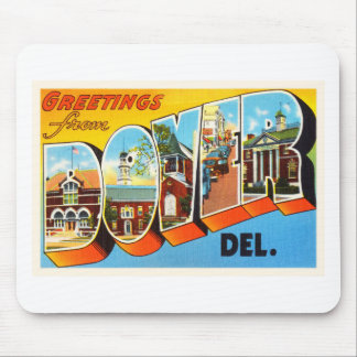 Dover Delaware DE Gammal vintage resorVykort Musmatta