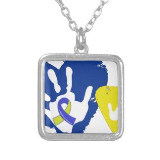 Down Syndrome medvetenhet Silverpläterat Halsband