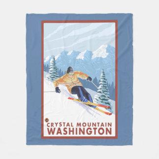 Downhhill snöSkier - Crystal berg, WA Fleecefilt