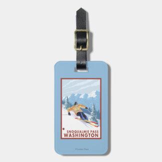 Downhhill snöSkier - Snoqualmie passerar, WA Bagagebricka