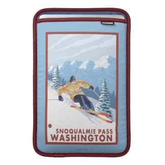 Downhhill snöSkier - Snoqualmie passerar, WA MacBook Sleeve