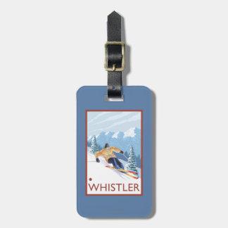 Downhhill snöSkier - Whistler, BC Kanada Bagagebricka