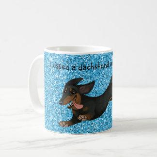 Doxie för hund design för Wiener för taxkaffemugg Kaffemugg