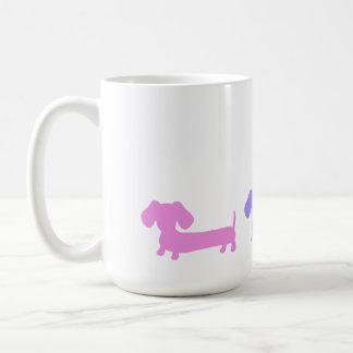 Doxie för hund för Wiener för taxkaffemugg kärlek Kaffemugg