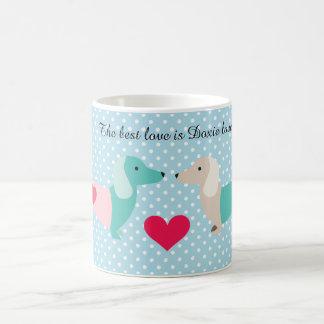 Doxie för taxkaffemugg valentin kaffemugg