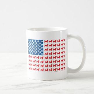 Doxie - patriotisk amerikanska flaggan för tax kaffemugg