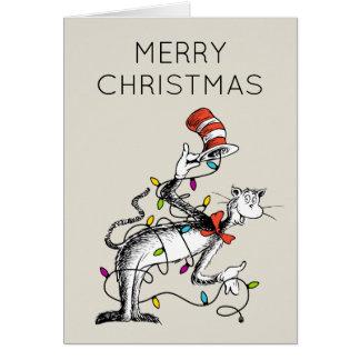 Dr Seuss   Grinch   den busiga katten i hatten Hälsningskort