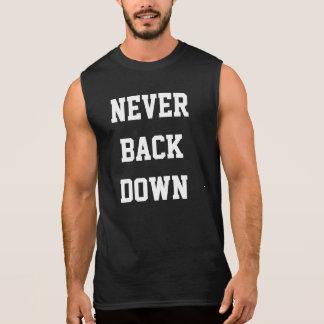 Dra tillbaka aldrig besegrar sleeveless tröjor