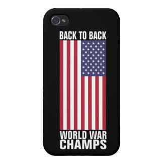 Dra tillbaka för att dra tillbaka världskrigmästar iPhone 4 fodral