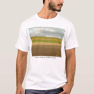 Dra upp konturernaa av remsor t-shirts