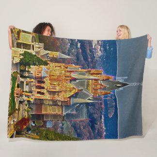 Drachenburg slott, tyskland akrylkonst fleecefilt