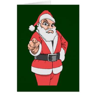 Drack Santas sist öl Hälsningskort