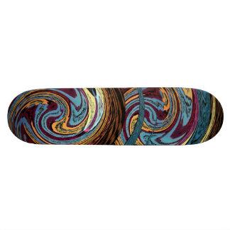 DracoSkateboard. Mångfärgad drakerundadesign Skateboard Bräda 21,5 Cm
