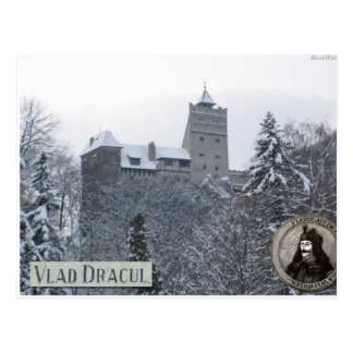 Draculas slott, vintagefoto vykort