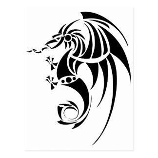 Dragissous V1 - svart drake Vykort