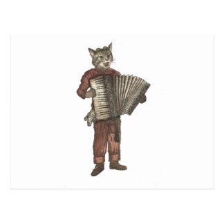 Dragspels- katt vykort