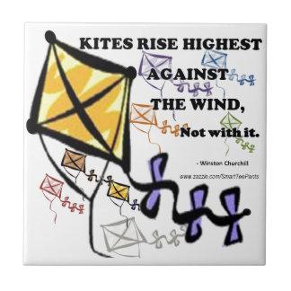 Drakar flyger Highest mot vinden - inte med den Kakelplatta
