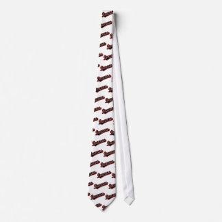 Drakar i svart och rött slips