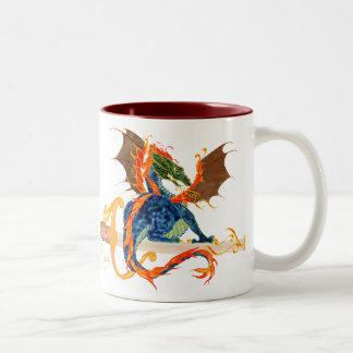 drake och svärd Två-Tonad mugg