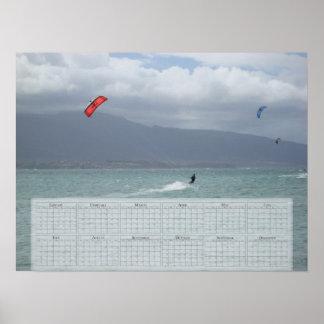Drake som 2010 surfar kalendern (24x18) affisch