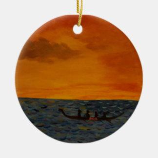 Drakefartygtävling Rund Julgransprydnad I Keramik