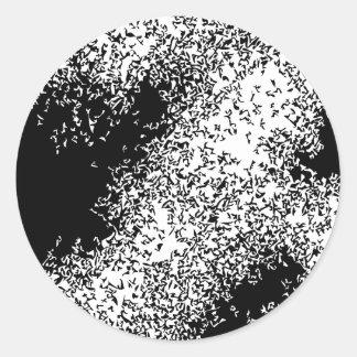 Draken fördunklar 04 i svart runt klistermärke