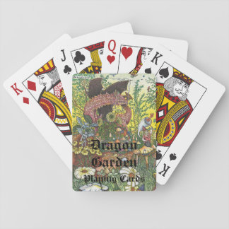 Draketrädgård som leker kort spelkort