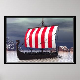 Drakkar Viking seglingfrakt Posters
