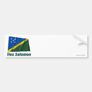 Drapeau Îles Salomon avec le nom en français Bildekal