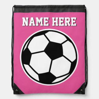 Drawstringen för fotboll för flickor för gympapåse