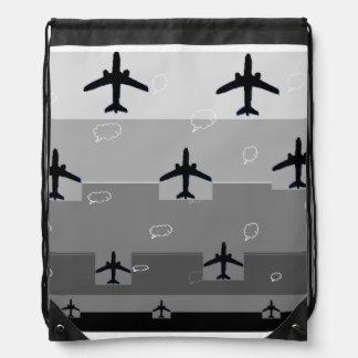 Drawstringryggsäck i grå färg gympapåse