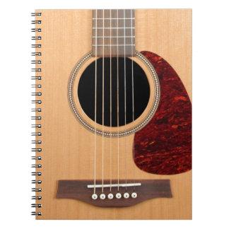 Dreadnought akustisk sex stränger gitarren anteckningsbok