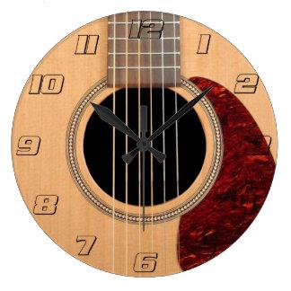 Dreadnought akustisk sex stränger gitarren stor rund klocka