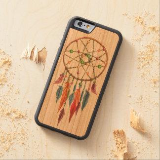 Dreamcatcher Carved Körsbär iPhone 6 Bumper Skal