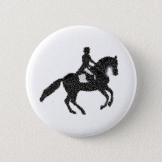 Dressage knäppas - den mosaiska hästen och standard knapp rund 5.7 cm