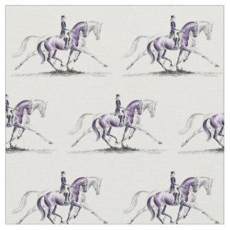 Dressagehäst i travet Piaffe Tyg