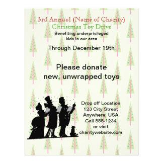 Drev för leksak för jul för välgörenhetjul årligt reklamblad