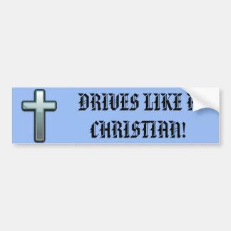 Drev gillar en kristen bildekal