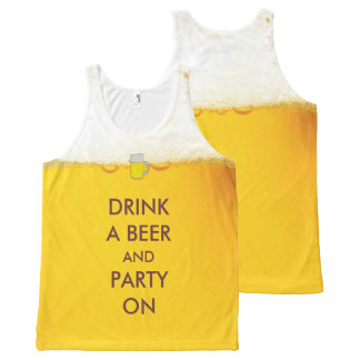 Dricka en öl och ett party på rolig slogan