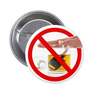 Dricka inte och kör knappar med nål